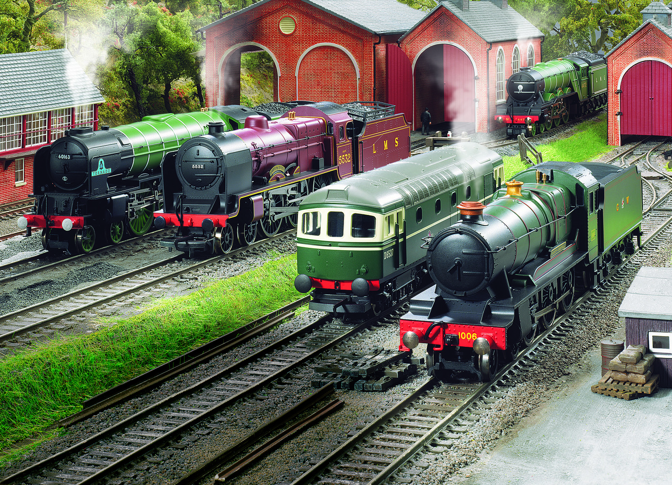 Model train locomotives