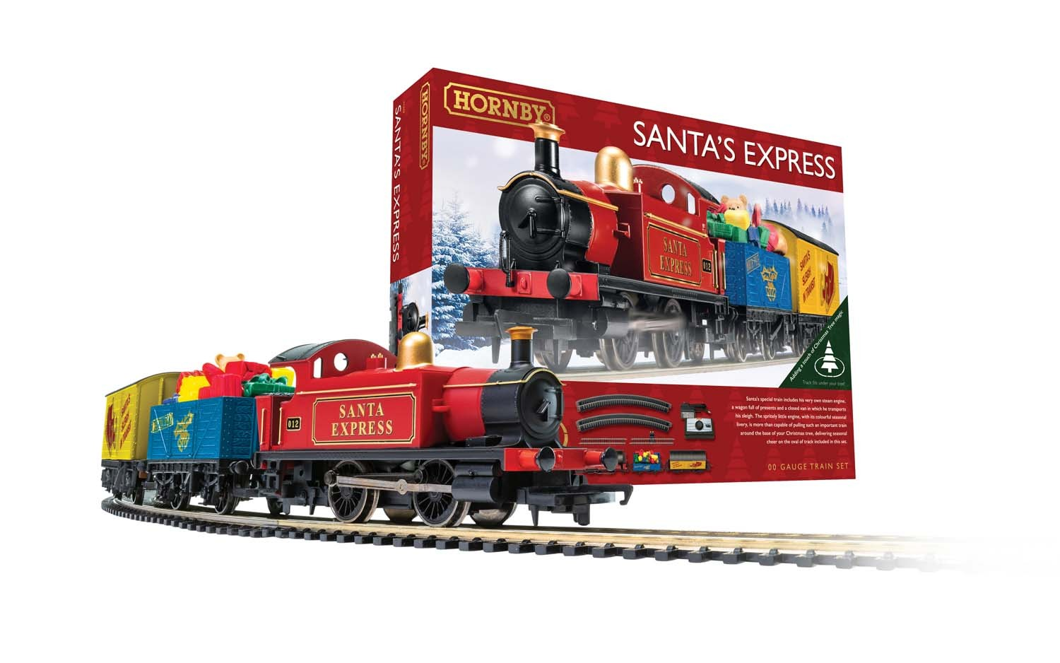 Christmas Train Set.Hornby Santa S Express Christmas Train Set