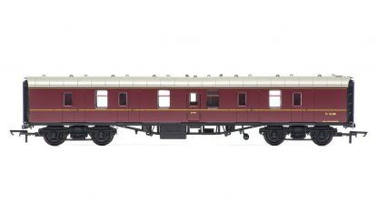 RailRoad, BR, Mk.1 Parcels Coach, BR Maroon - Era 5