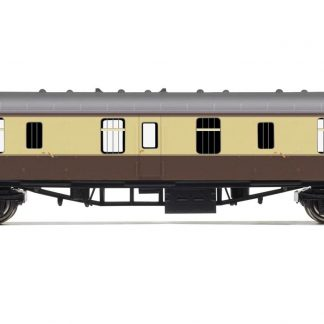 RailRoad, BR, Mk.1 Parcels Coach, BR Chocolate & Cream - Era 4