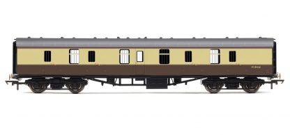 RailRoad, BR, Mk.1 Parcels Coach, BR Chocolate & Cream - Era 4