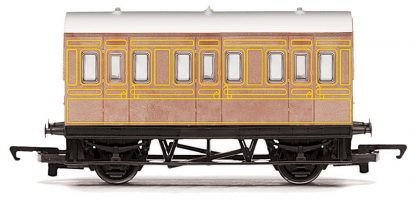 RailRoad, LNER, 4 wheel Coach - Era 3