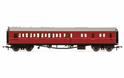 Hornby BR, Collett 'Bow-Ended' Corridor Brake Third Class RH, W4935W, Maroon - Era 5