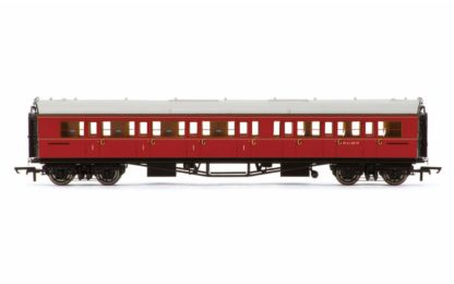 Hornby BR, Collett 'Bow-Ended' Corridor Composite LH, W6138W, Maroon - Era 5