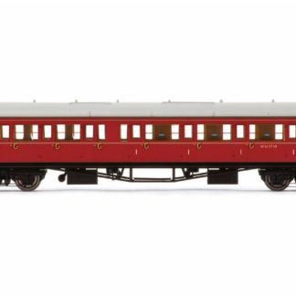 Hornby BR, Collett 'Bow-Ended' Corridor Composite RH, W6137W, Maroon Passenger Coach - Era 5