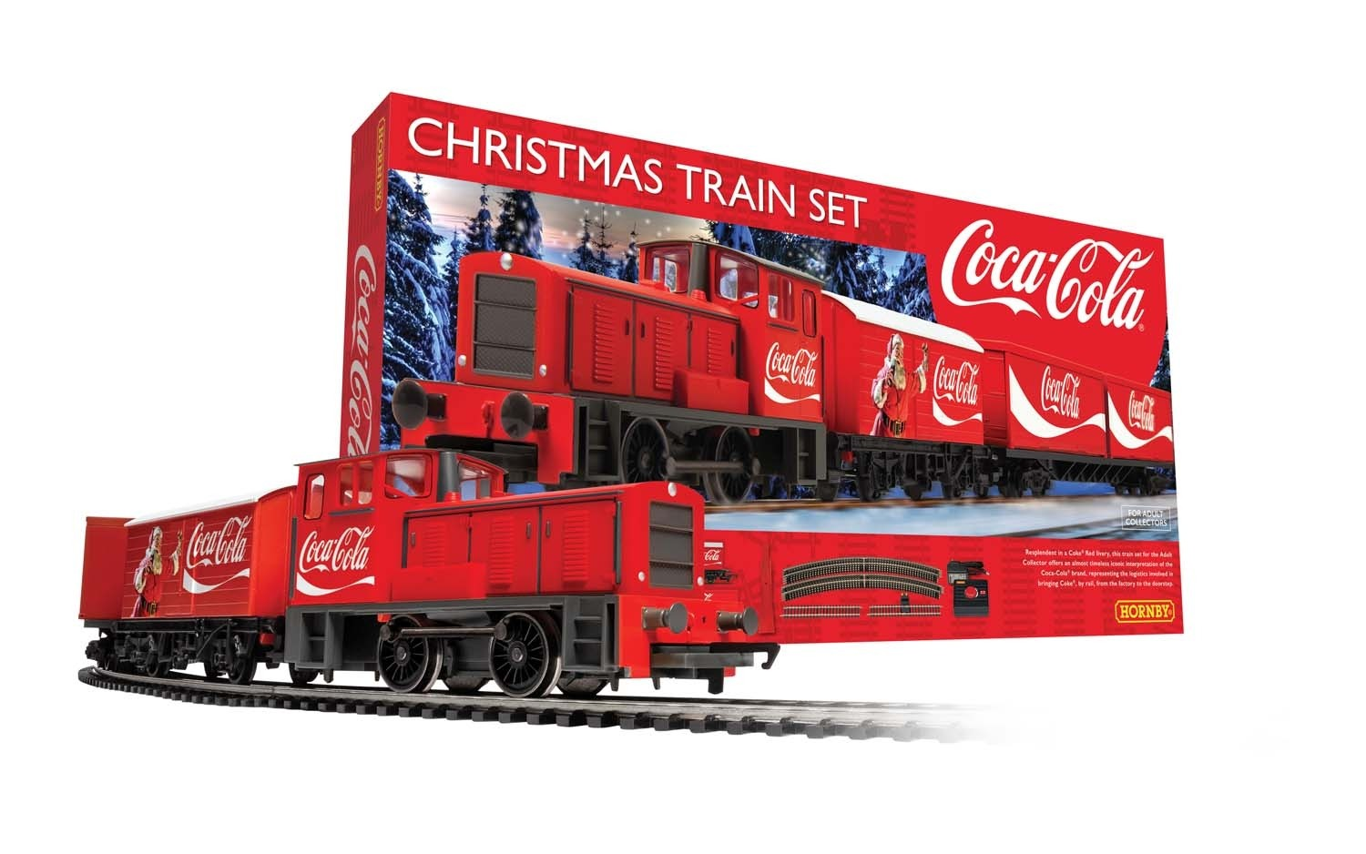 Christmas Train Set.Hornby The Coca Cola Christmas Train Set